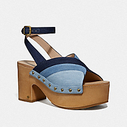 COACH G3612 Nettie Clog Sandal DENIM MULTI