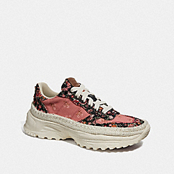 C143 ESPADRILLE RUNNER WITH MIX POSEY CLUSTER PRINT - G3626 - CORAL MULTI/BLACK MULTI