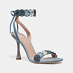 COACH G3650 Brodie Sandal DENIM MULTI