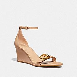 COACH G3655 Odetta Wedge Sandal BEECHWOOD/BEECHWOOD