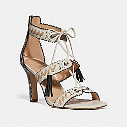 COACH G3742 Bella Heel CHALK/NATURAL