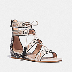 COACH G3744 - VIA DEMI WEDGE SANDAL CHALK/NATURAL