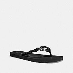 COACH G3756 Sirena Flip Flop BLACK