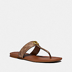 COACH G3757 - JESSIE SANDAL TAN/DARK BROWN