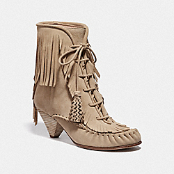 COACH G3802 Fringe Boot LIGHT TAN