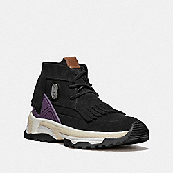 COACH G3852 - C243 MOCCASIN SNEAKER WITH COACH PATCH BLACK