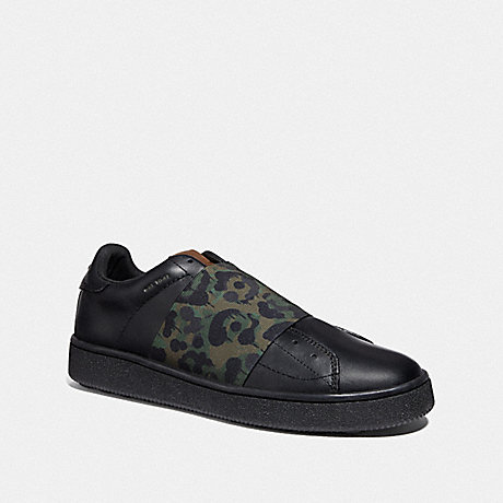 COACH G3877 C101 BANDED STRAP SNEAKER WITH WILD BEAST PRINT WILD BEAST