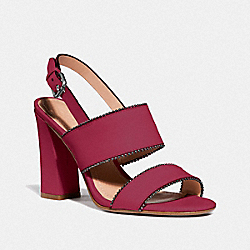 COACH G3916 Rylie Sandal BRIGHT CHERRY