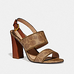 COACH G3917 Rylie Sandal TAN/SADDLE