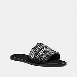 COACH G3978 Hayden Flat Sandal BLACK