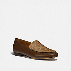 COACH G4281 Harper Loafer DARK SADDLE/TAN