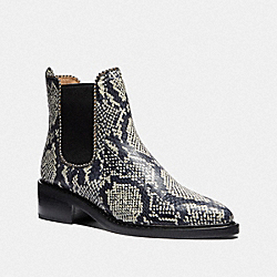COACH G4368 Bowery Bootie In Snakeskin NATURAL