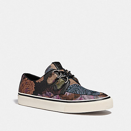 COACH C175 LOW TOP SNEAKER WITH KAFFE FASSETT PRINT - MULTI ALL OVER - G4586