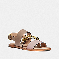 COACH G4605 Heather Sandal SEASHELL/TAUPE