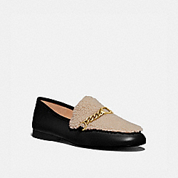 HELENA LOAFER - BLACK/NATURAL - COACH G4634