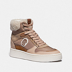 COACH G4655 C220 High Top Sneaker MUSHROOM/OAT