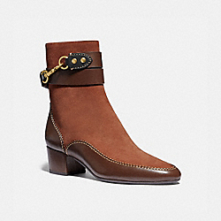 COACH G4695 Corrine Bootie 1941 SADDLE/WALNUT