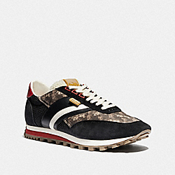 C180 LOW TOP SNEAKER WITH HORSE AND CARRIAGE PRINT - MULTI BLACK - COACH G4829