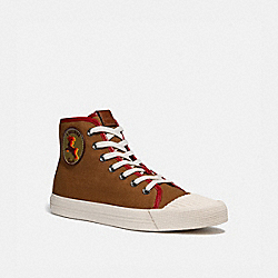 C211 HIGH TOP SNEAKER WITH MYTHICAL MONSTERS - SIENNA - COACH G4834