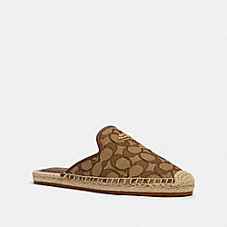 COACH G4841 - CALEY ESPADRILLE KHAKI/SADDLE
