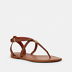 COACH G4854 Lydia Sandal SADDLE