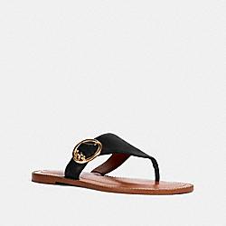 COACH G4855 Lesli Sandal BLACK