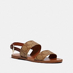 COACH G4876 - HENRY SANDAL KHAKI/SADDLE