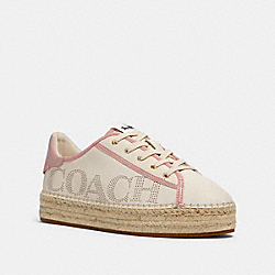 COACH G4880 - CATE ESPADRILLE SNEAKER CHALK/PINK