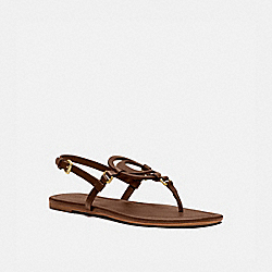 COACH G4910 Jeri Sandal SADDLE