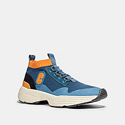 COACH G4914 C252 Knit Runner With Coach Patch AEGEAN CLEMENTINE