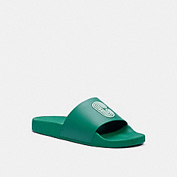 SLIDE WITH COACH PATCH - G4920 - GREEN