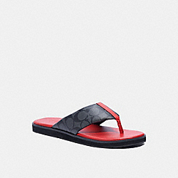COACH G4921 - FLIP FLOP IN SIGNATURE CANVAS BRIGHT CARDINAL