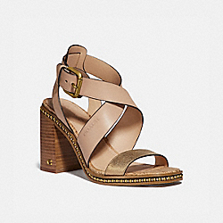 COACH G4928 Mandy Sandal DUSTY GOLD/BEECHWOOD
