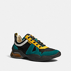 COACH G4939 Citysole Runner In Colorblock DARK SEA GREEN BANANA