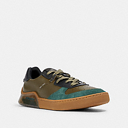 COACH G4942 Citysole Court In Colorblock UTILITY GREEN OLIVE