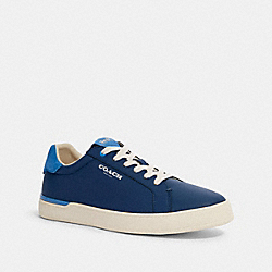 COACH G4948 Clip Low Top Sneaker In Colorblock ADMIRAL BRIGHT BLUE