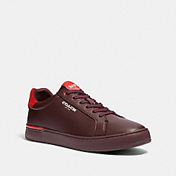 COACH G4948 Clip Low Top Sneaker In Colorblock OXBLOOD SPORT RED