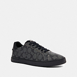COACH G4949 Clip Low Top Sneaker CHARCOAL/BLACK