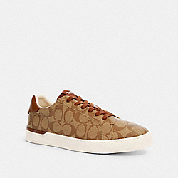 COACH G4949 - CLIP LOW TOP SNEAKER KHAKI/SADDLE