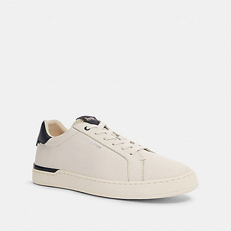 COACH G4950 CLIP LOW TOP SNEAKER CHALK/MIDNIGHT NAVY