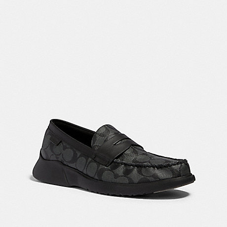 COACH G4952 CITYSOLE LOAFER CHARCOAL/BLACK
