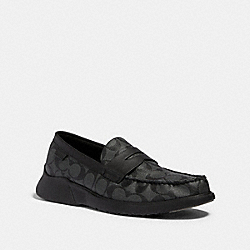 COACH G4952 - CITYSOLE LOAFER CHARCOAL/BLACK