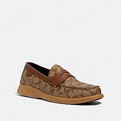 COACH G4952 - CITYSOLE LOAFER KHAKI/SADDLE
