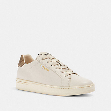 COACH G4966 CLIP LOW TOP SNEAKER CHALK/KHAKI