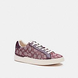 COACH G4967 Clip Low Top Sneaker MED BURGUNDY