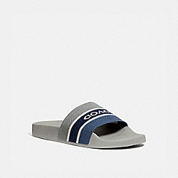 KNIT SLIDE - WASHED STEEL/TRUE NAVY - COACH G5005