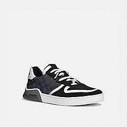 COACH G5015 Citysole Court Sneaker CHARCOAL/BLACK