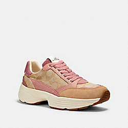 C152 TECH RUNNER - G5057 - LIGHT KHAKI/PINK