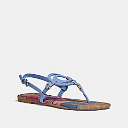 COACH G5099 Jeri Sandal With Love LIGHT BLUE/TAN