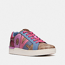 COACH G5102 Lowline Low Top Sneaker TAN/HYACINTH
